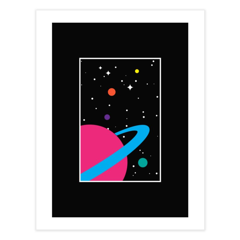 Space Is a Happy Place Home Fine Art Print by aparaat's artist shop