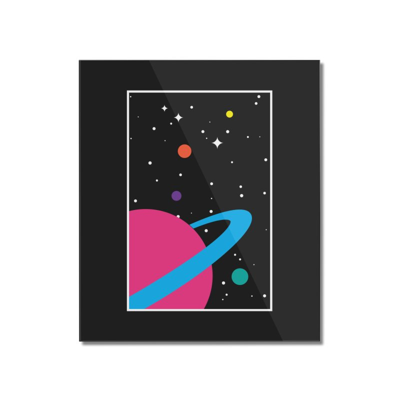 Space Is a Happy Place Home Mounted Acrylic Print by aparaat's artist shop