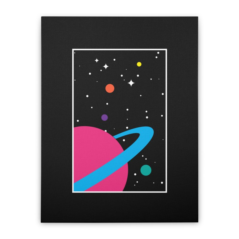 Space Is a Happy Place Home Stretched Canvas by aparaat's artist shop