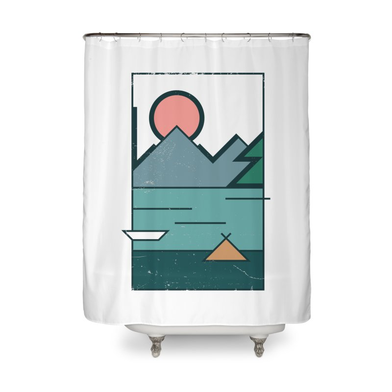 Love Home Shower Curtain by aparaat's artist shop