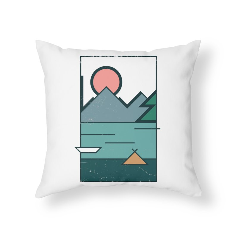 Love Home Throw Pillow by aparaat's artist shop