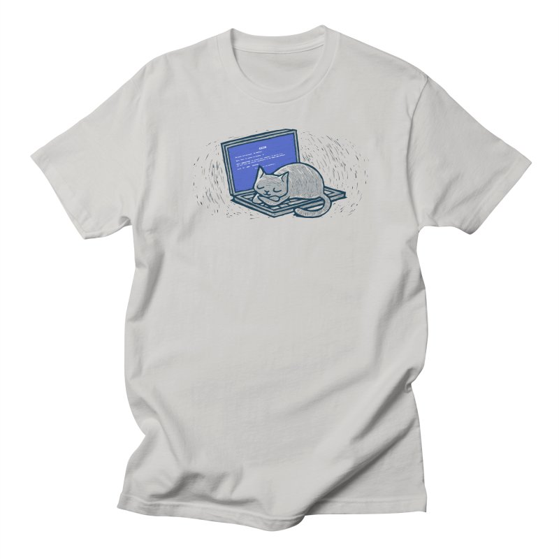 Blue Screen of Cat Men's T-shirt by Ape Lad's Artist Shop