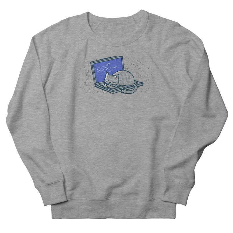 Blue Screen of Cat Women's Sweatshirt by Ape Lad's Artist Shop