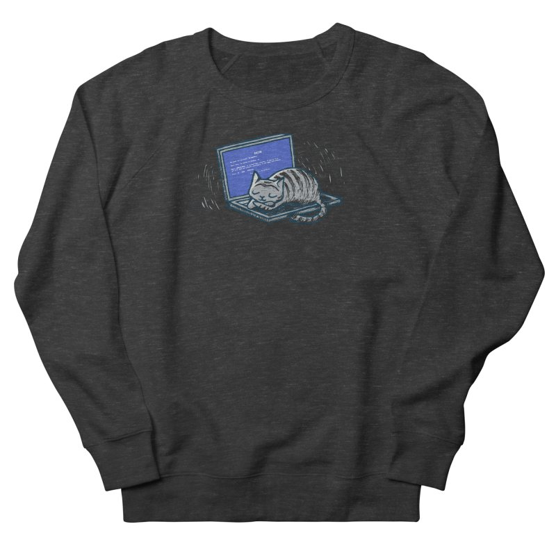 Blue Screen of Cat Men's Sweatshirt by Ape Lad's Artist Shop