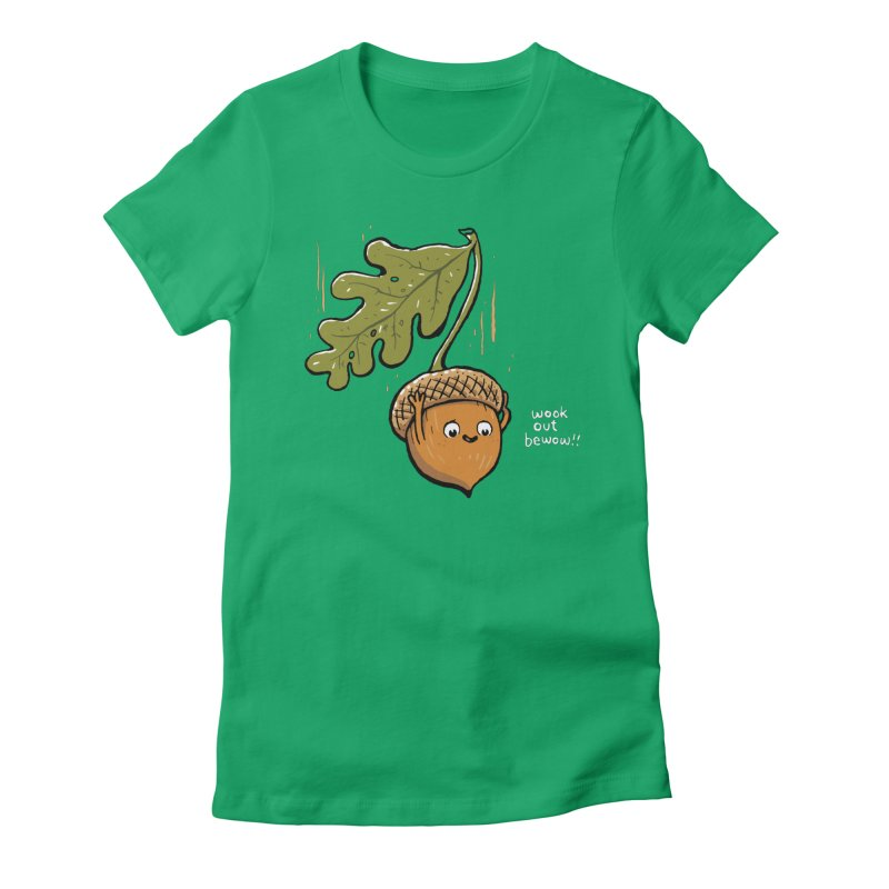 acorny Women's Fitted T-Shirt by Ape Lad's Artist Shop
