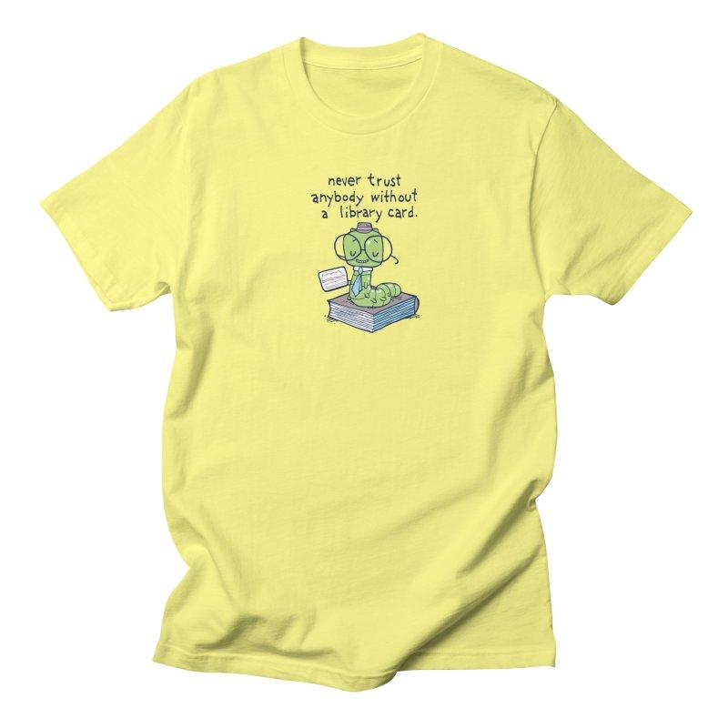 bookworm Men's T-shirt by Ape Lad's Artist Shop