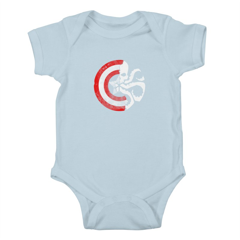 Captain Hydra Kids Baby Bodysuit by Apocalyptee