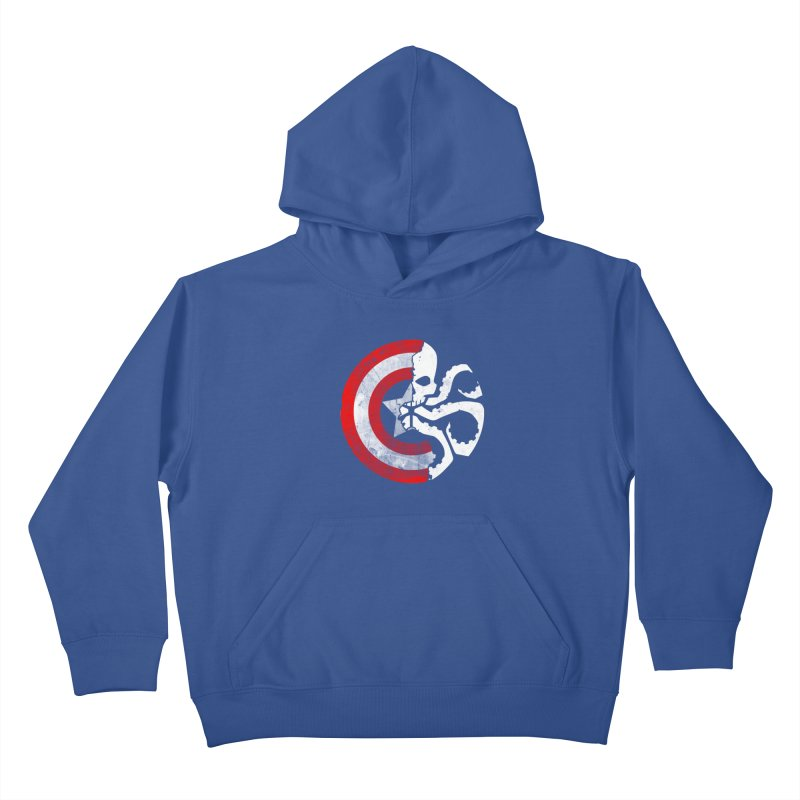 Captain Hydra Kids Pullover Hoody by Apocalyptee