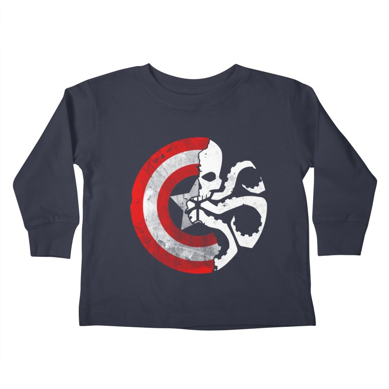 Captain Hydra Kids Toddler Longsleeve T-Shirt by Apocalyptee