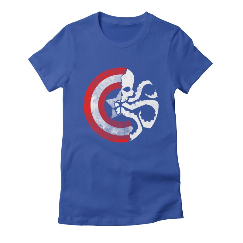 Captain Hydra Women's Fitted T-Shirt by Apocalyptee