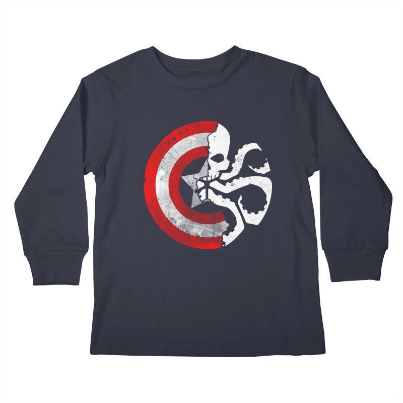 Captain Hydra Kids Longsleeve T-Shirt by Apocalyptee