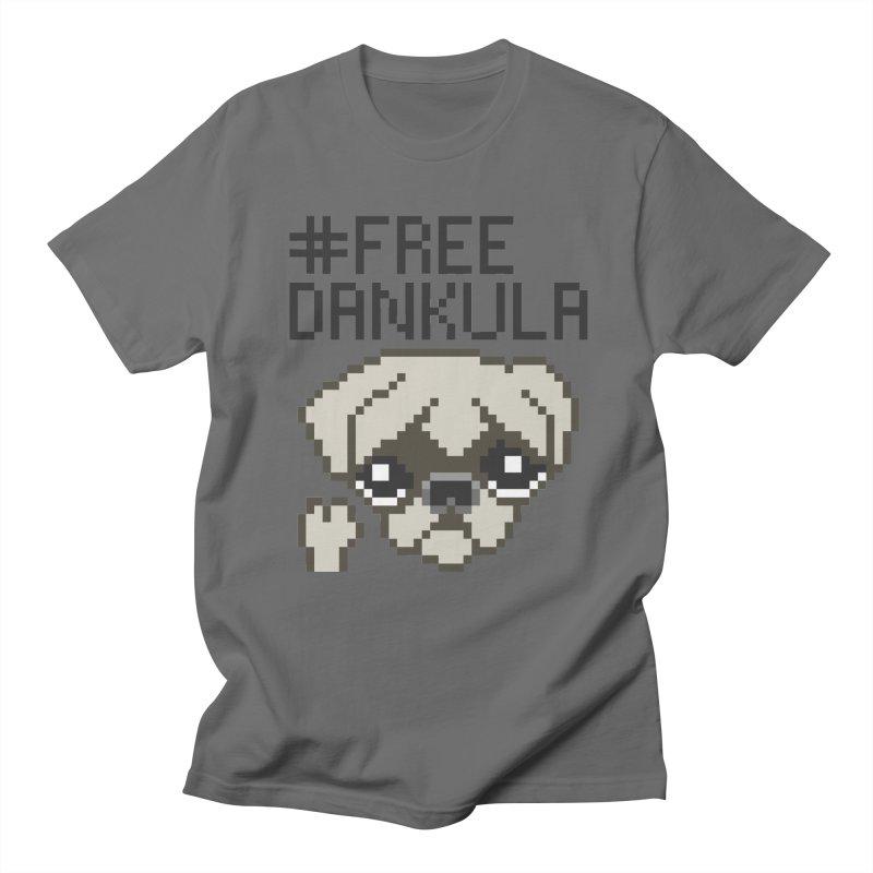 Free Dankula Pixel Art Pug Men's T-Shirt by Applesawus