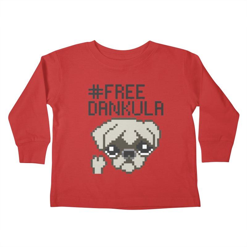 Free Dankula Pixel Art Pug Kids Toddler Longsleeve T-Shirt by Applesawus