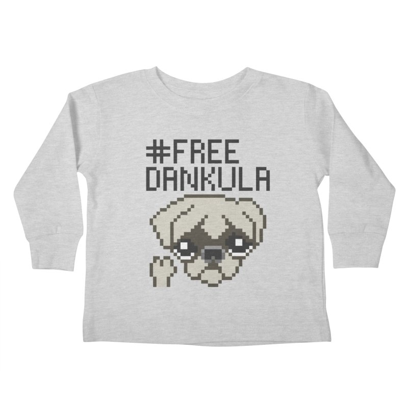 Free Dankula Pixel Art Pug Kids Toddler Longsleeve T-Shirt by Applesawus