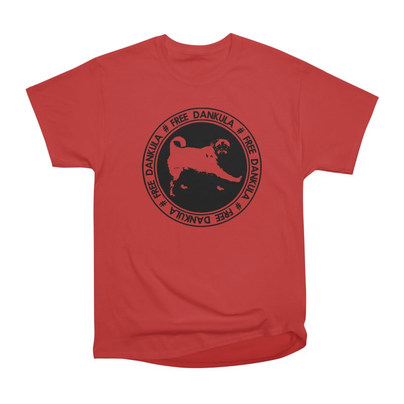 Free Dankula Pug Seal (Black) Women's Heavyweight Unisex T-Shirt by Applesawus