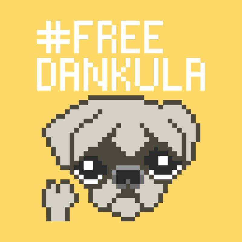 Free Dankula Pixel Art Pug (White Text) by Applesawus
