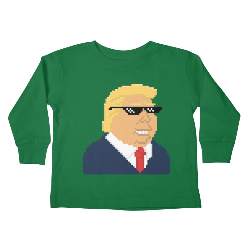 President Shitlord : Deal With It Pixel Art (Trump, No Text) Kids Toddler Longsleeve T-Shirt by Applesawus