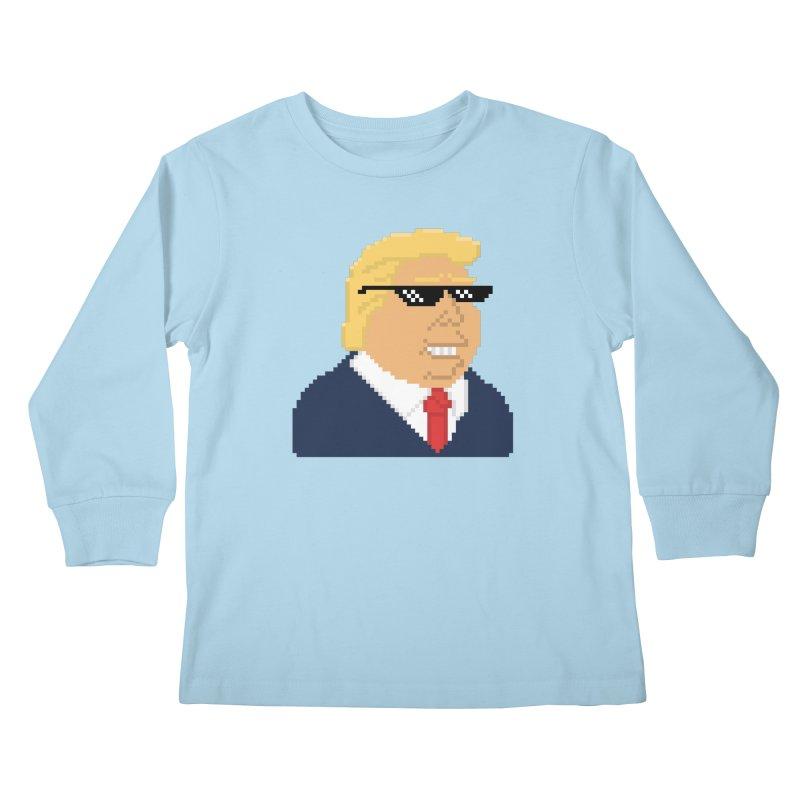 President Shitlord : Deal With It Pixel Art (Trump, No Text) Kids Longsleeve T-Shirt by Applesawus