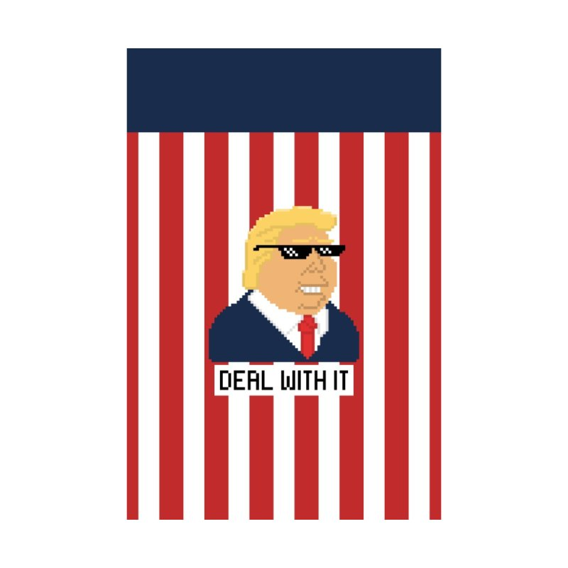 President Shitlord Flag | Deal With It Pixel Art (Trump) by Applesawus