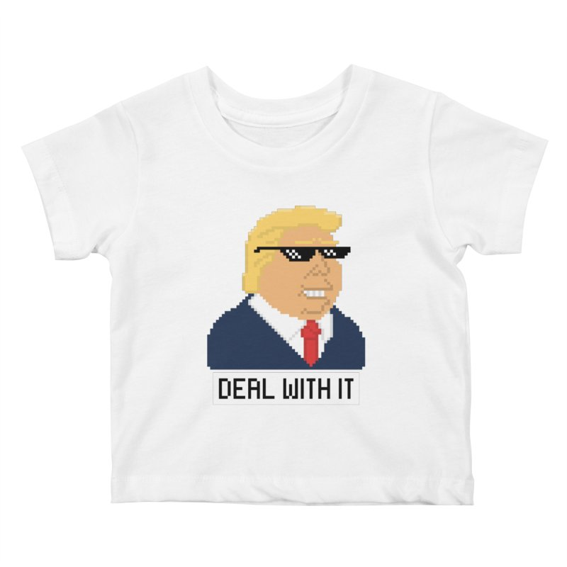 President Shitlord : Deal With It Pixel Art (Trump, with Text) Kids Baby T-Shirt by Applesawus