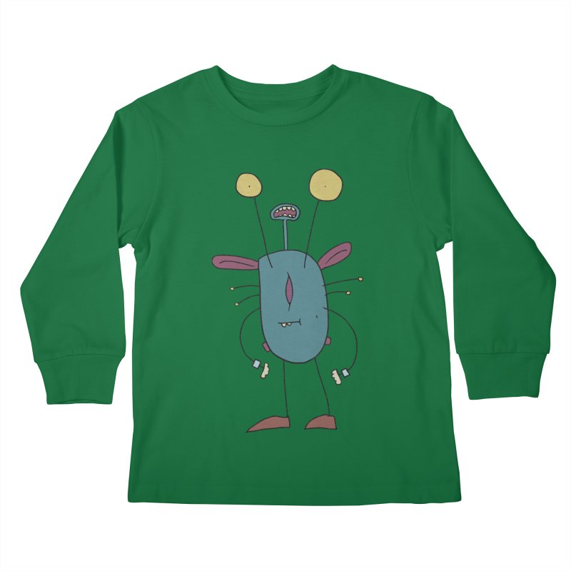 Bolar, The Touchy One Kids Longsleeve T-Shirt by Applesawus
