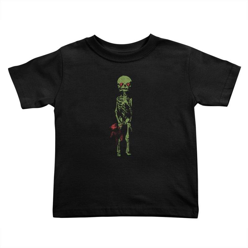 Little Tommy Skeleton Kids Toddler T-Shirt by Applesawus