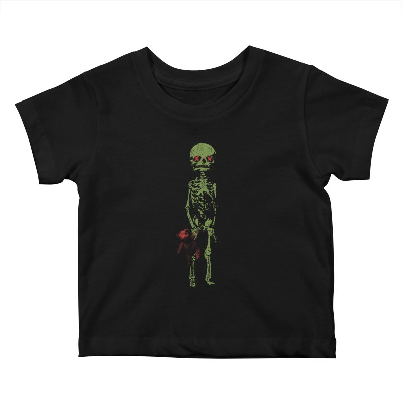 Little Tommy Skeleton Kids Baby T-Shirt by Applesawus