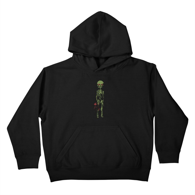 Little Tommy Skeleton Kids Pullover Hoody by Applesawus