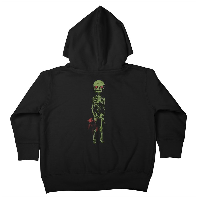 Little Tommy Skeleton Kids Toddler Zip-Up Hoody by Applesawus