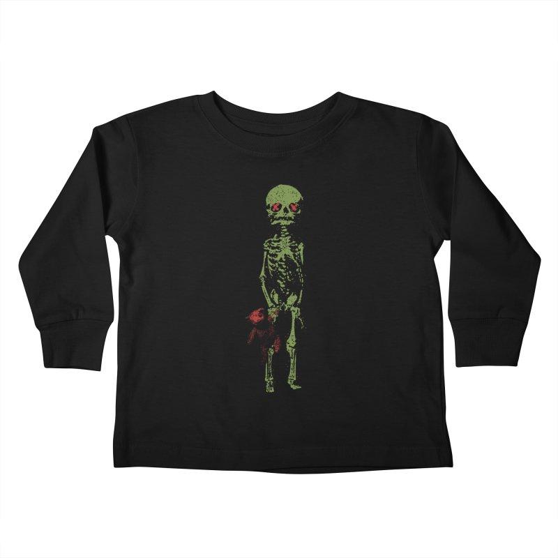 Little Tommy Skeleton Kids Toddler Longsleeve T-Shirt by Applesawus