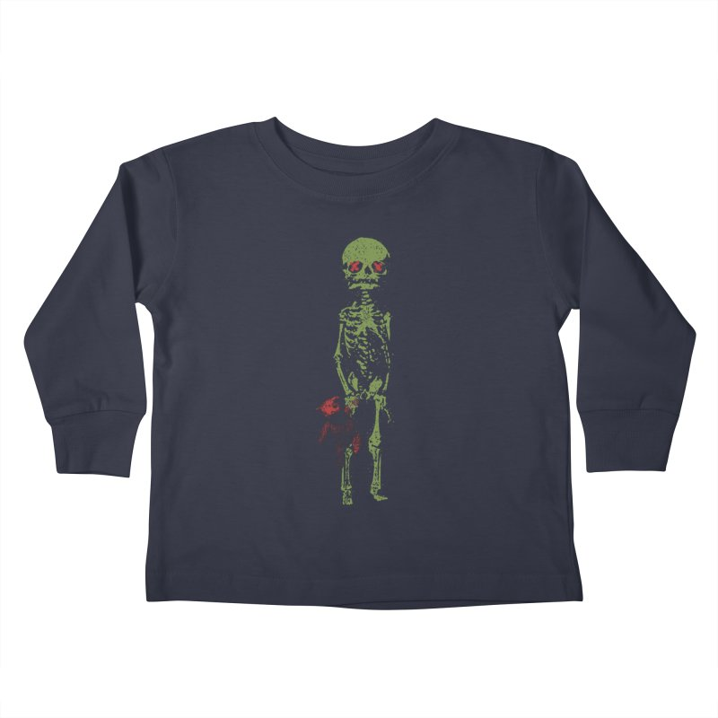 Little Tommy Skeleton Kids Toddler Longsleeve T-Shirt by Applesawus