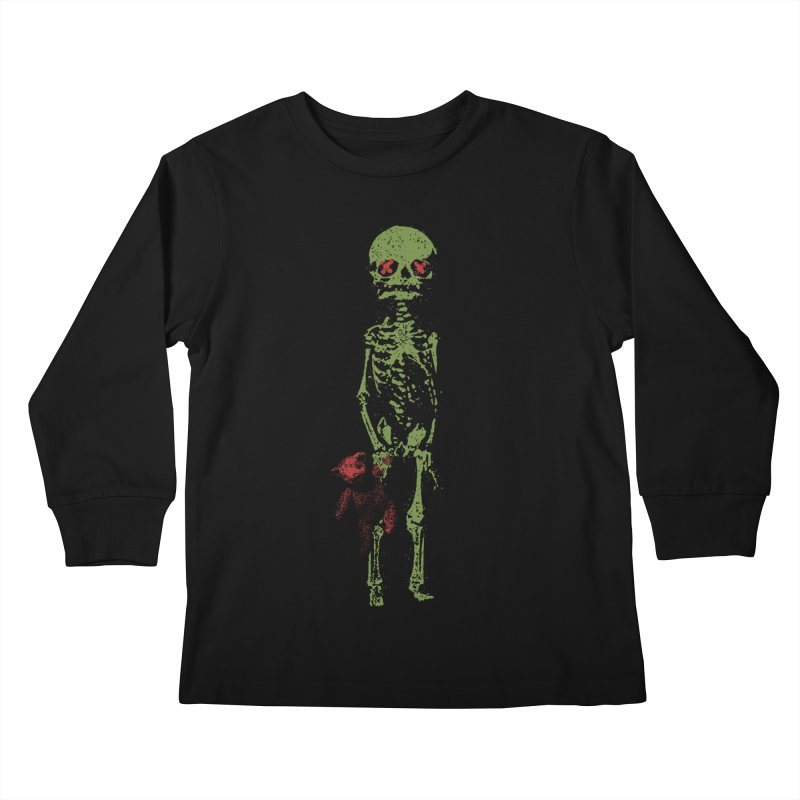 Little Tommy Skeleton Kids Longsleeve T-Shirt by Applesawus