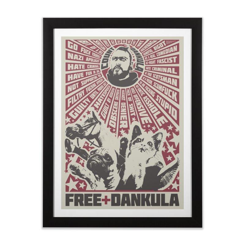 Free Dankula Meowist Propaganda Poster Home Framed Fine Art Print by Applesawus