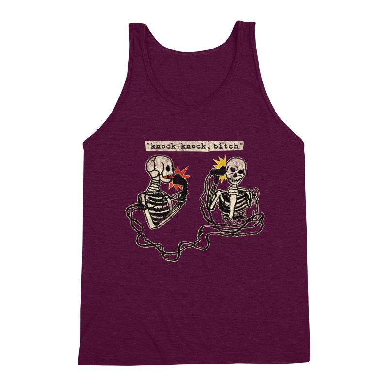 Skeleton Call : Knock-Knock, Bitch Men's Triblend Tank by Applesawus