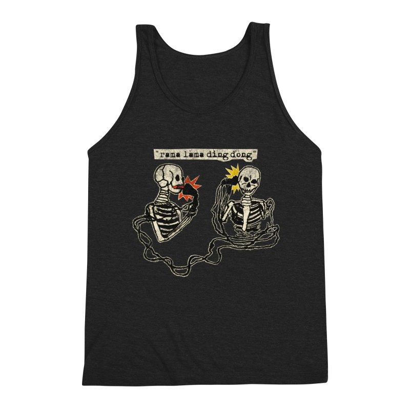 Skeleton Call : Rama Lama Ding Dong Men's Triblend Tank by Applesawus