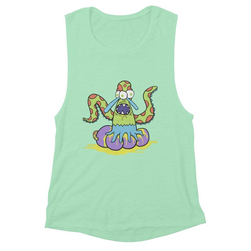 Squid Bob Women's Muscle Tank by Applesawus