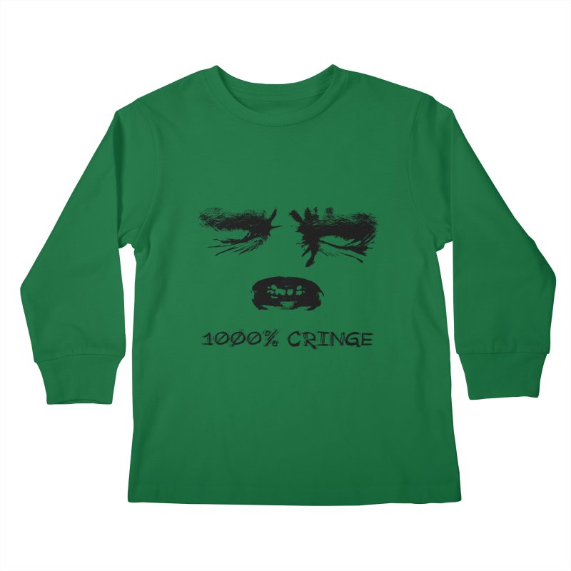 1000% Cringe Kids Longsleeve T-Shirt by Applesawus
