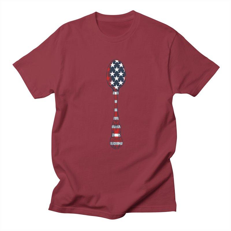 Tarl Warwick : Styxist Patriot Spoon Men's Regular T-Shirt by Applesawus