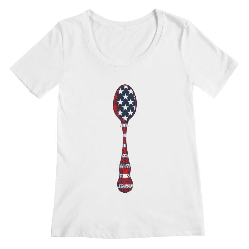 Tarl Warwick : Styxist Patriot Spoon Women's Regular Scoop Neck by Applesawus