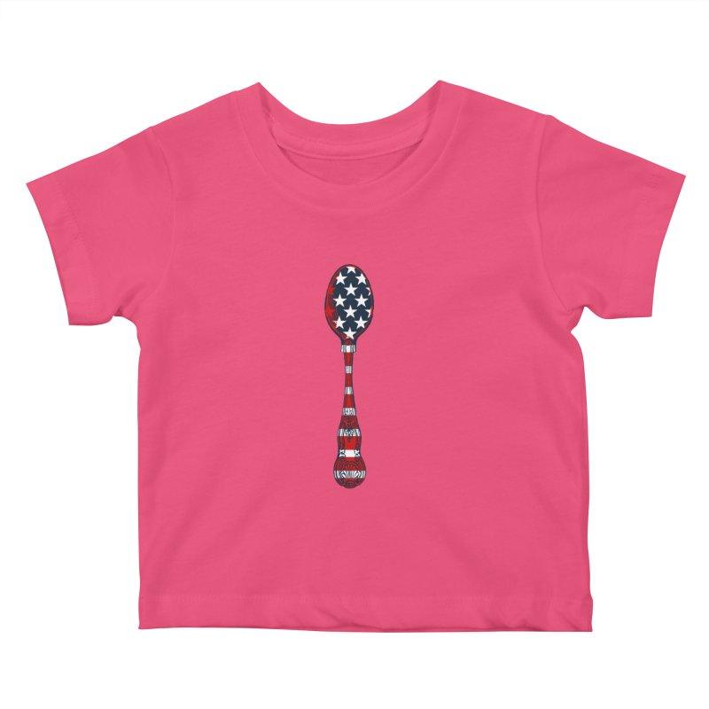 Tarl Warwick : Styxist Patriot Spoon Kids Baby T-Shirt by Applesawus