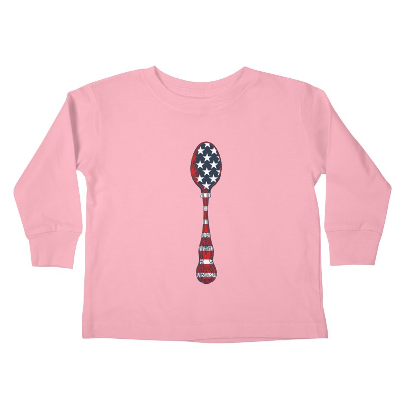 Tarl Warwick : Styxist Patriot Spoon Kids Toddler Longsleeve T-Shirt by Applesawus