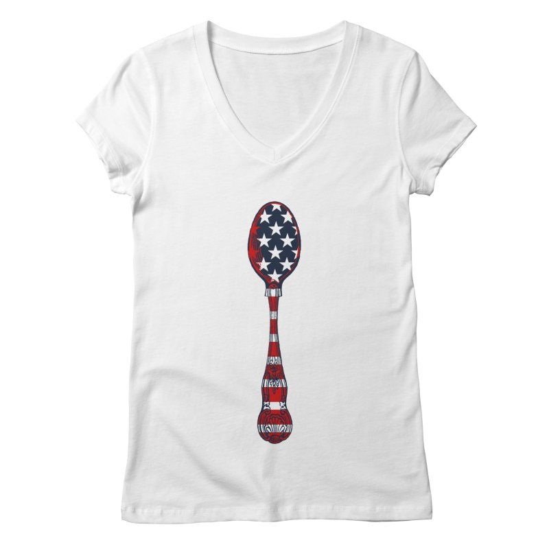 Tarl Warwick : Styxist Patriot Spoon Women's Regular V-Neck by Applesawus