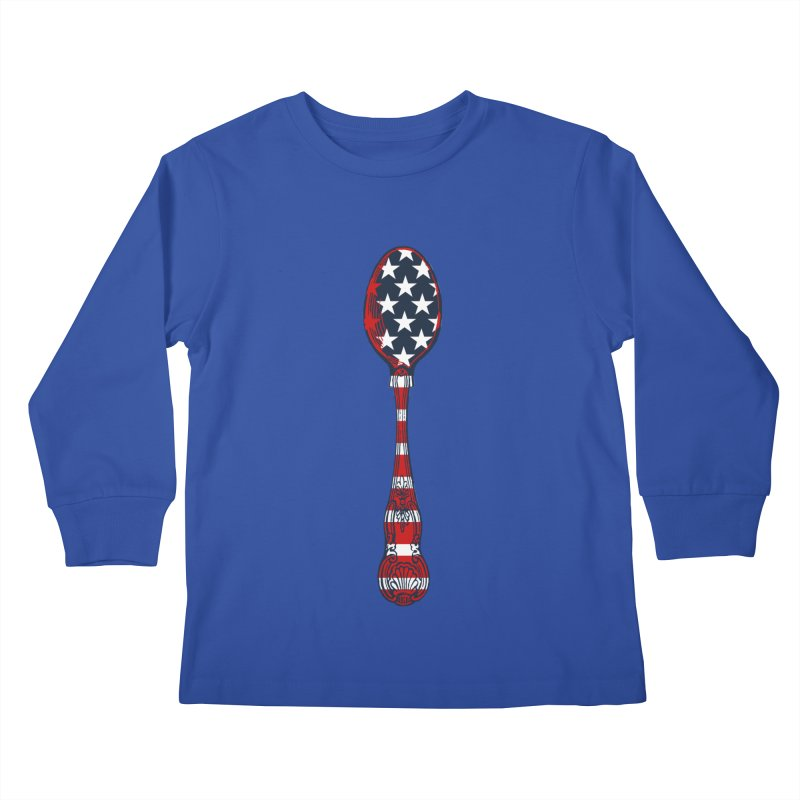 Tarl Warwick : Styxist Patriot Spoon Kids Longsleeve T-Shirt by Applesawus