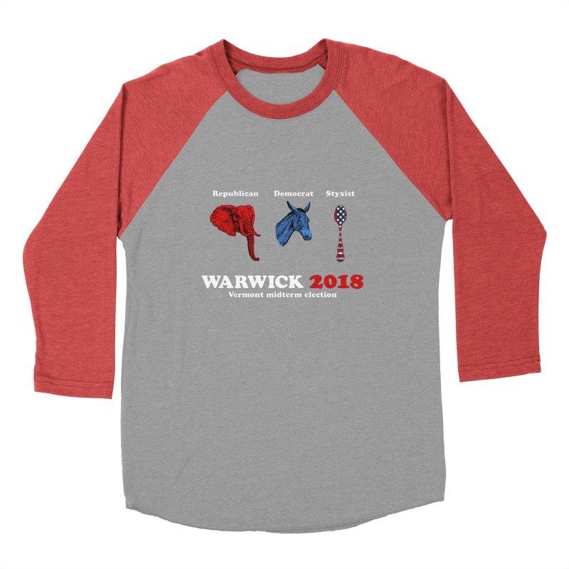 Warwick 2018 : Republican, Democrat, Styxist (white text) Men's Baseball Triblend Longsleeve T-Shirt by Applesawus