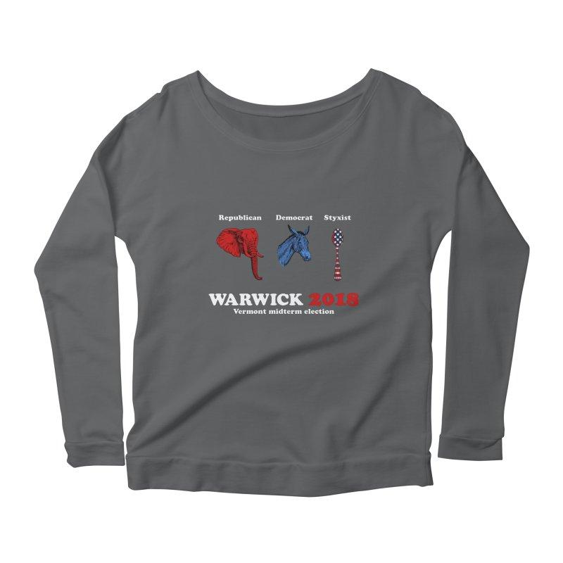 Warwick 2018 : Republican, Democrat, Styxist (white text) Women's Scoop Neck Longsleeve T-Shirt by Applesawus