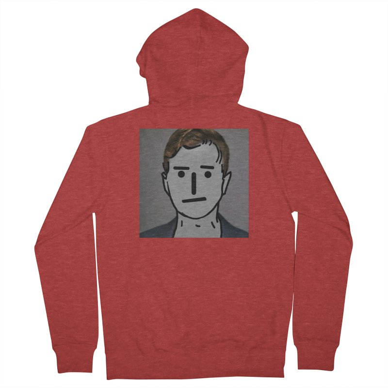 Narrative Pushing Cretin (color) Men's French Terry Zip-Up Hoody by Applesawus