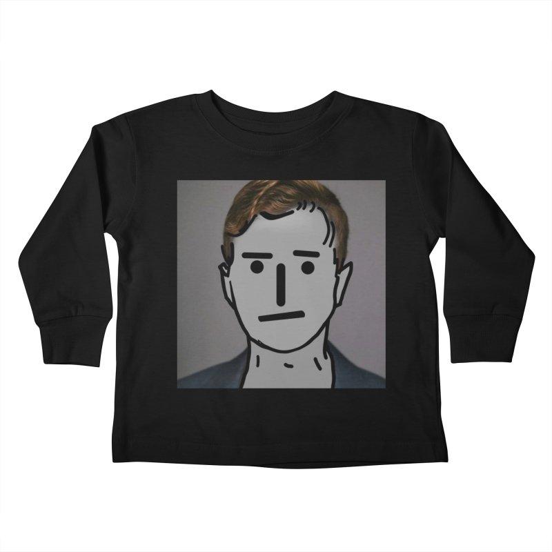 Narrative Pushing Cretin (color) Kids Toddler Longsleeve T-Shirt by Applesawus