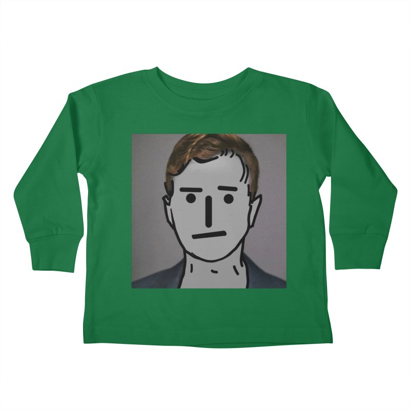 Narrative Pushing Cretin (color) Kids Toddler Longsleeve T-Shirt by Applesawus