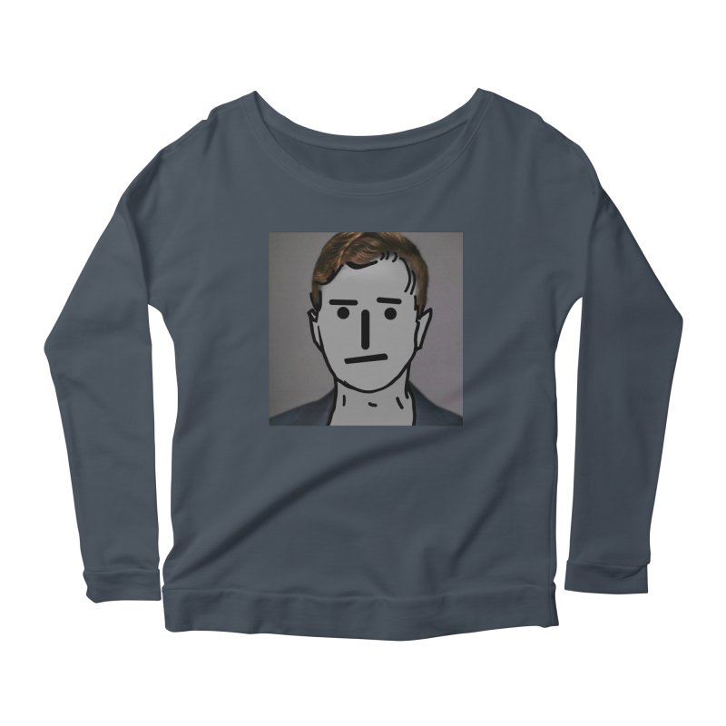 Narrative Pushing Cretin (color) Women's Scoop Neck Longsleeve T-Shirt by Applesawus