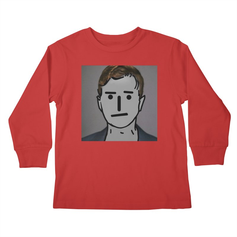 Narrative Pushing Cretin (color) Kids Longsleeve T-Shirt by Applesawus